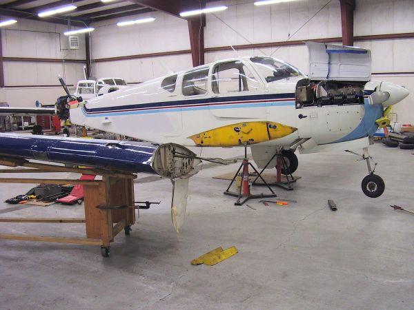 Tail Flutter Damage Repair Beech Bonanza Avstar